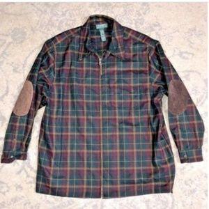 Ralph Lauren Large Elbow Patch Zip Barn Jacket j8